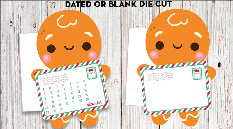 Free Printable Planner Divider Calendar Gingerbread Mailman