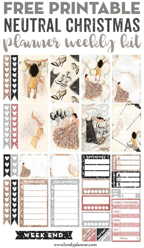 Free Printable New Year Planner Stickers Weekly Kit