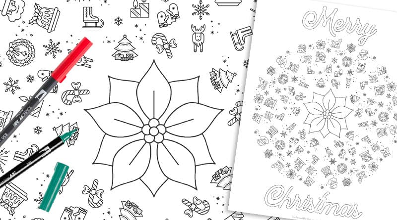 Free Printable Christmas Mandala Coloring Page - Lovely Planner