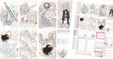 "Free Printable ""Love Is In the Air"" Planner Stickers - Weekly Kit"