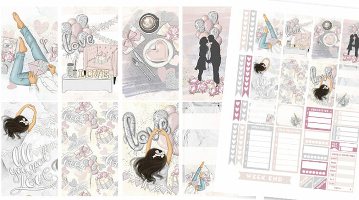 """Free Printable """"Love Is In the Air"""" Planner Stickers - Weekly Kit"""