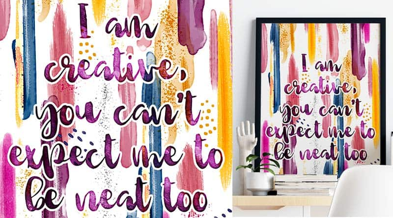 Free Printable Craft Room Sign - Creative Quote