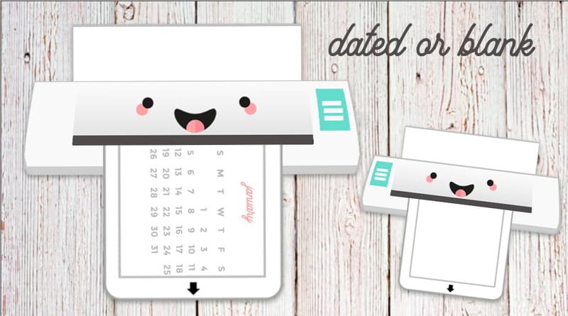 Free Printable Cutting Machine Planner Divider / Die-Cut