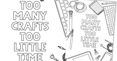 Free Printable Fun Coloring Page - Crafty Quote