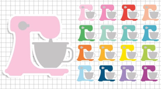 free printable mixer baking planner stickers