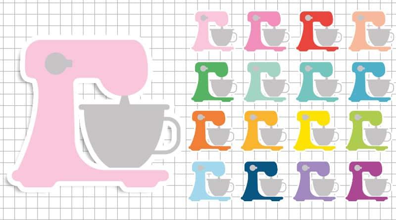 free printable mixer baking planner stickers
