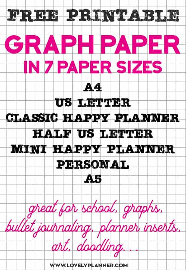 free printable Graph paper 7 sizes 5x5 grid paper
