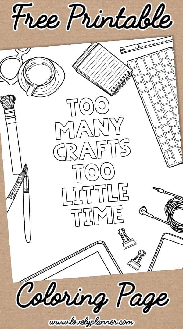 free printable coloring page crafty quote