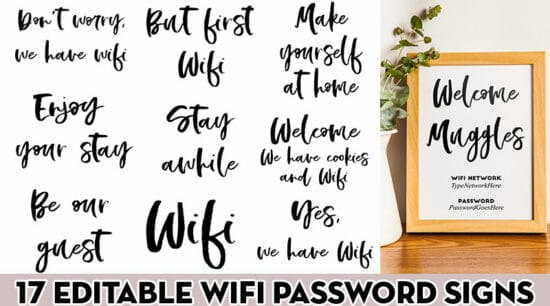 17 free printable wifi password signs