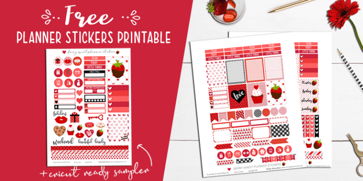 Berry Sweet Planner Stickers Printable