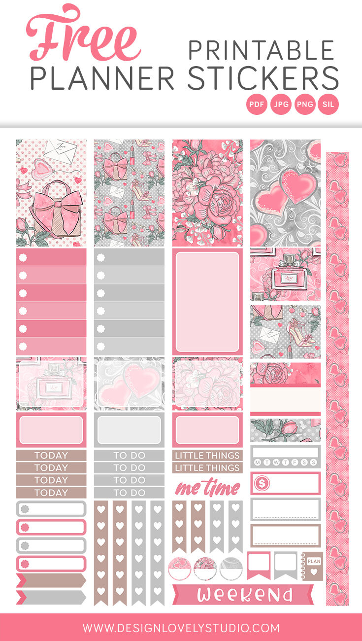 Sweet Love Stickers For Your Planner