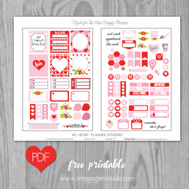 My heart - Kit for Mini Happy Planner