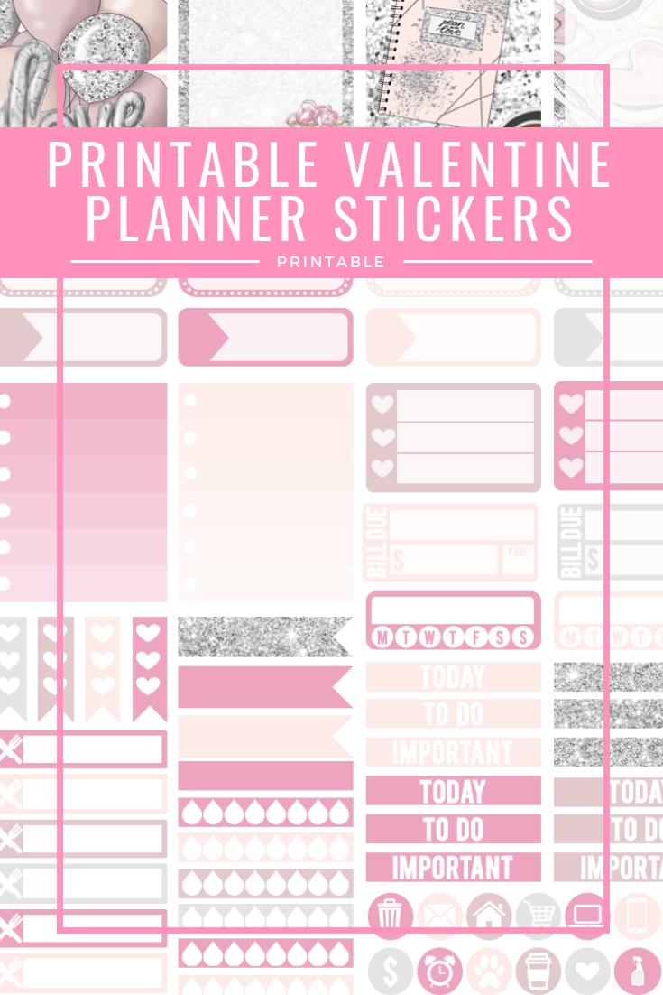 Printable Valentine Planner Stickers