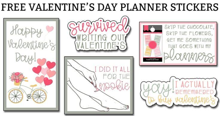 Valentine's Day Planner Stickers