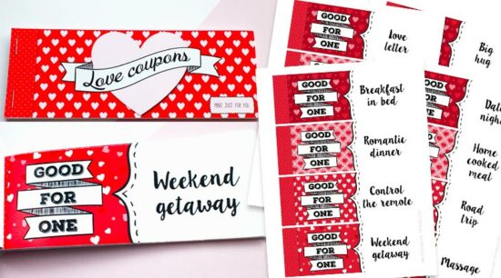 Free Printable Love Coupons DIY Gift