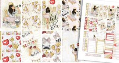 Free Printable Birthday Girl Planner Stickers - Weekly Kit