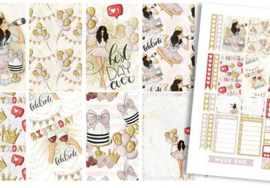 Free Printable Birthday Girl Planner Stickers – Weekly Kit