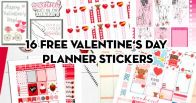 16 Free Printable Valentine's Day Planner Stickers