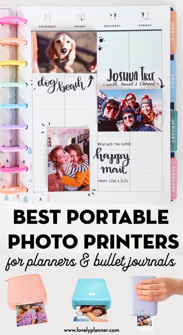 Best Portable Photo Printers For Planners