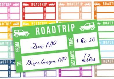 Free Printable Road Trip Planner Stickers