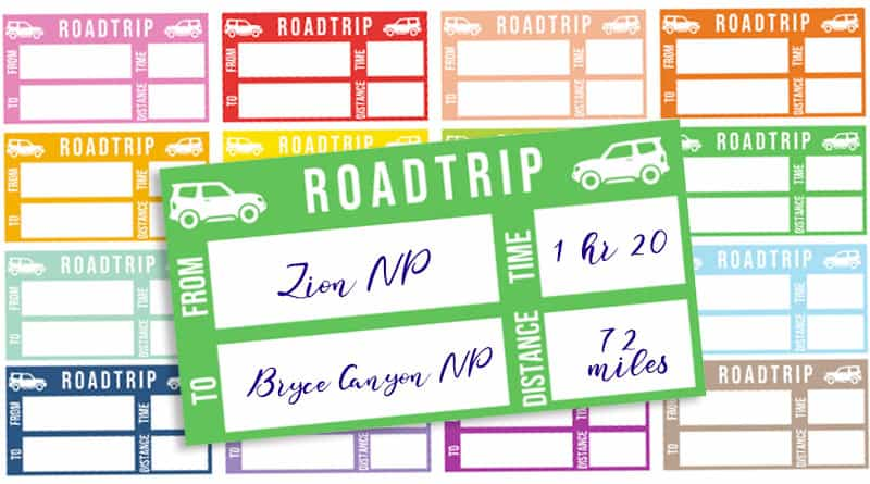 Free Printable Road Trip Planner Stickers