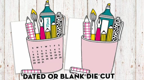 Free Printable Planner Die Cut Pen Holder