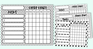 Free Printable Chore Chart Templates