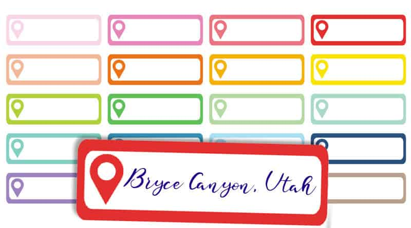 free printable location pin planner stickers