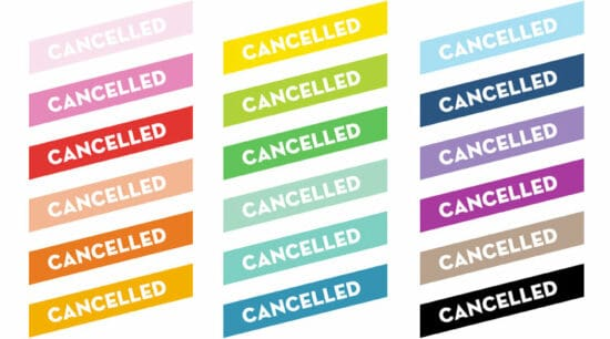 Free Printable Cancelled Planner Stickers