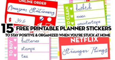 Free Printable Planner Stickers to use When You're Stuck at home