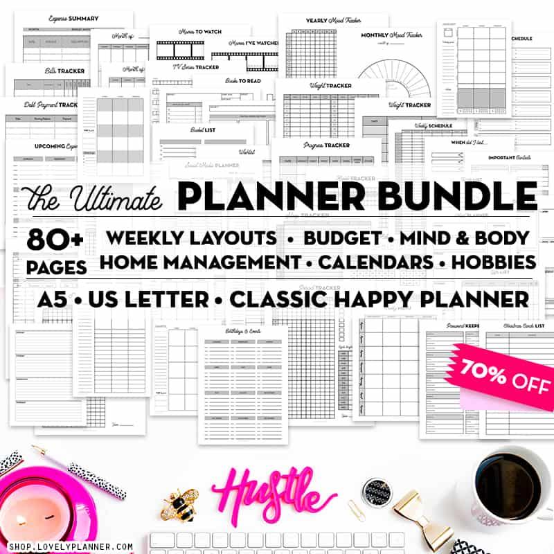 Ultimate Planner Bundle Printable Inserts