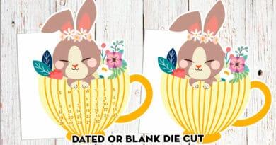 Free Printable Die Cut Bunny Planner Divider