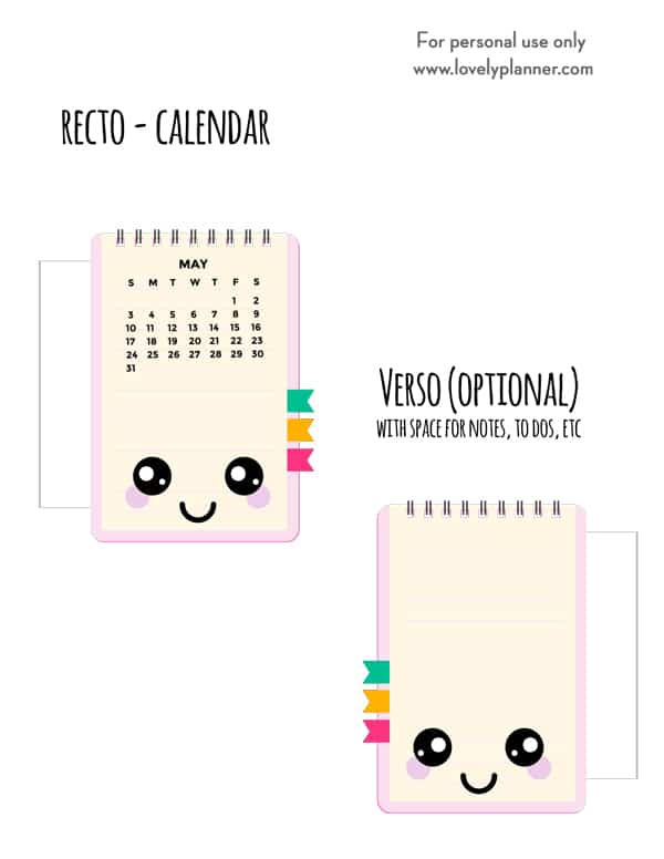 Free Printable Planner Divider Notepad