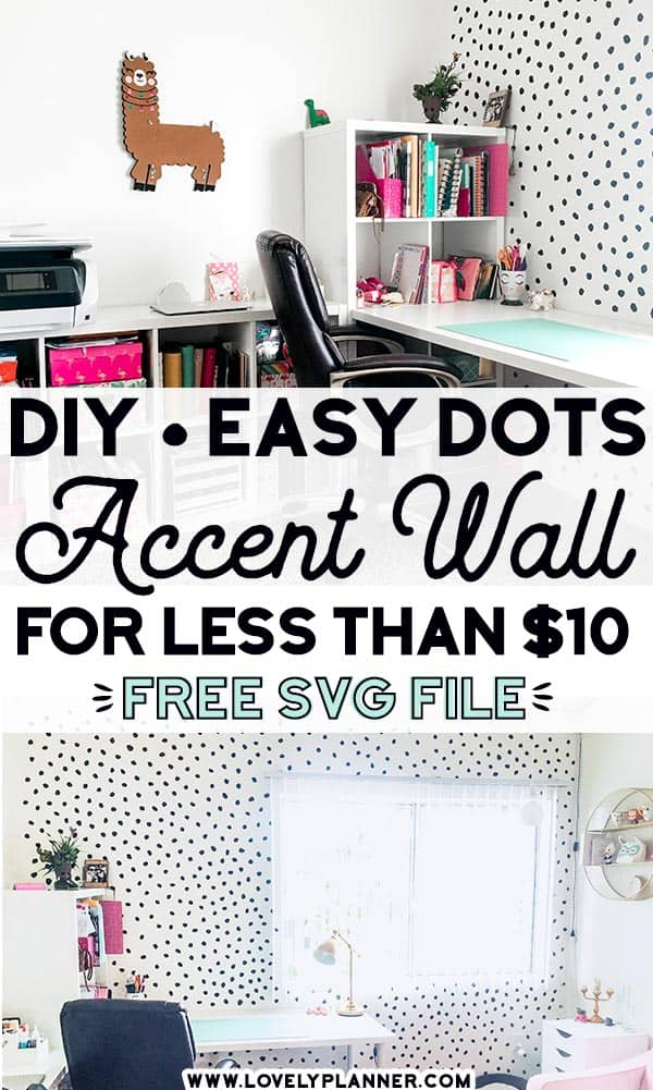 Free SVG cut file Dalmatian Dots Decals DIY accent wall