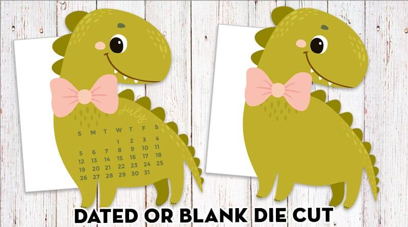 Free Printable Dinosaur Planner Divider / Die-Cut
