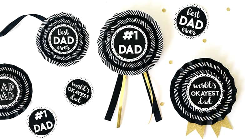 DIY Paper Award Ribbons for Father's Day - FREE PRINTABLE