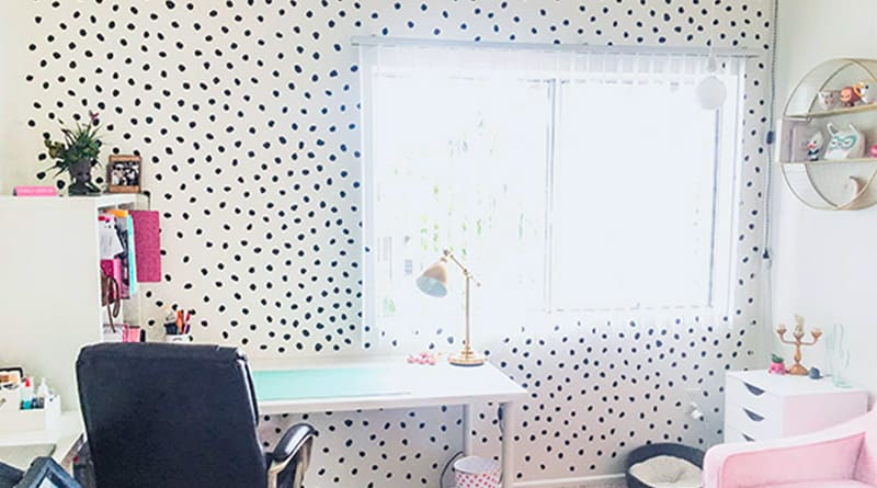 DIY dots accent wall decals free svg