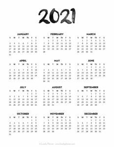 Free-Printable-2021-Calendar-Template-Script-1 - Lovely ...