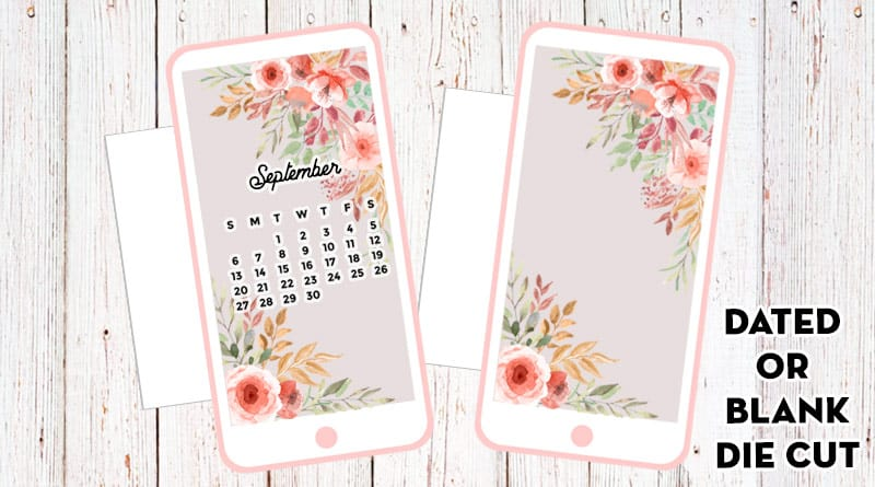 Free Printable Floral Cell Phone Planner Divider
