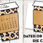 Leopard Coffee Cup Planner Divider