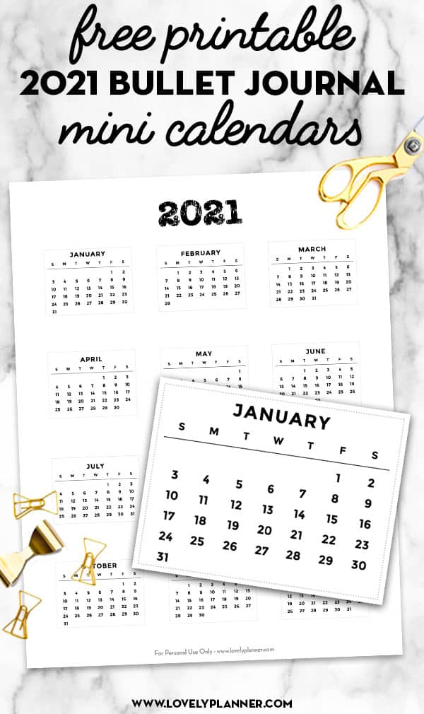 free printable mini monthly calendar stickers