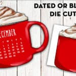 Free Printable Hot Chocolate Cup Planner Divider