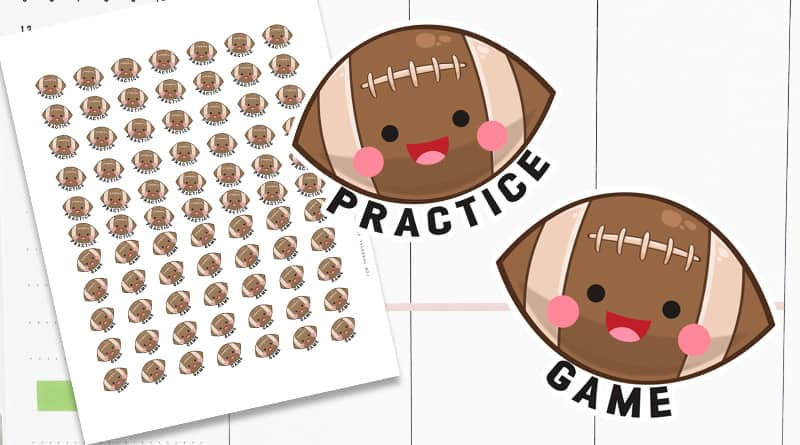 Free Printable Football Planner Stickers
