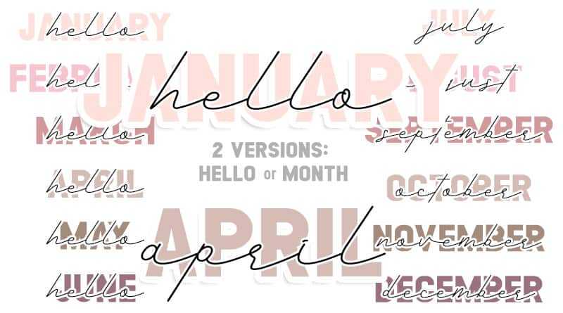 Free Printable Monthly Headers Stickers