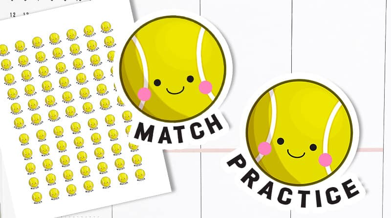 Free Printable Tennis Planner Stickers