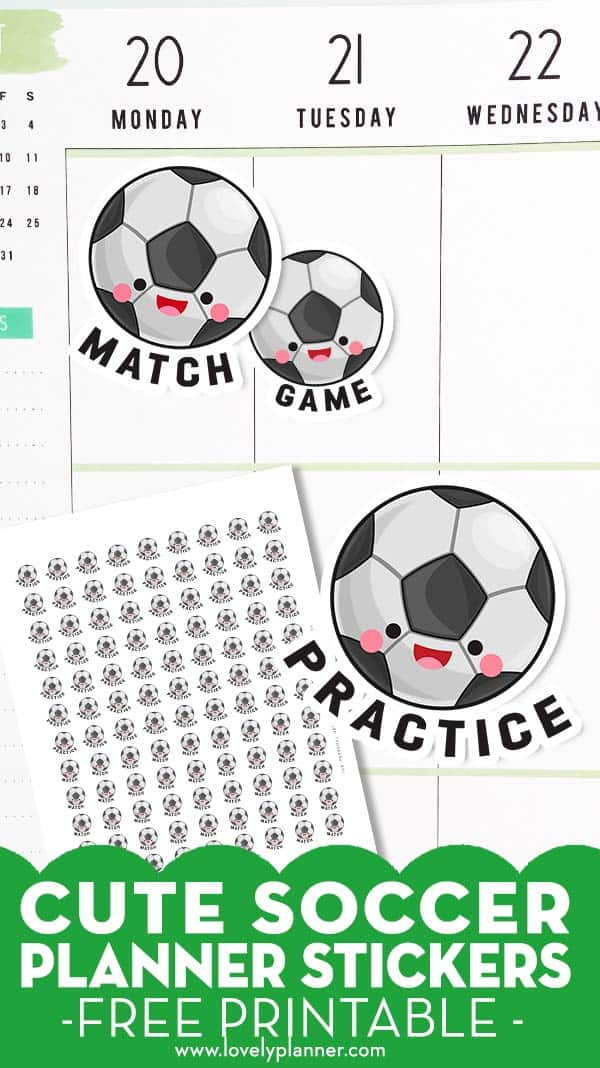 Free Printable Soccer Planner Stickers