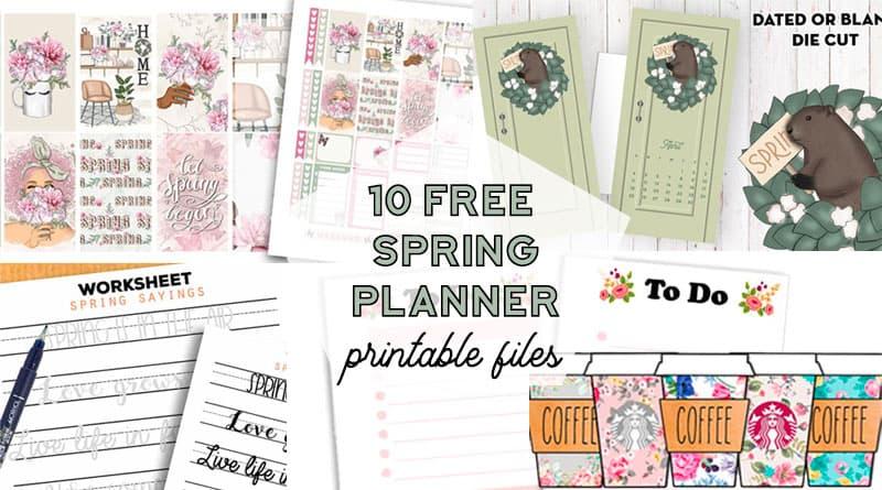 free spring planner printable