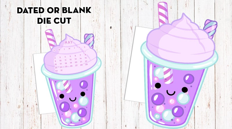 Free Printable Bubble Tea Planner Divider