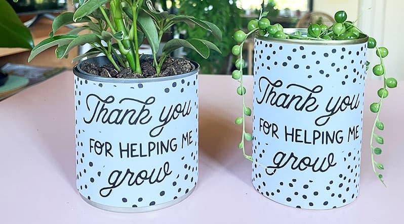 DIY Teacher Planter Printable