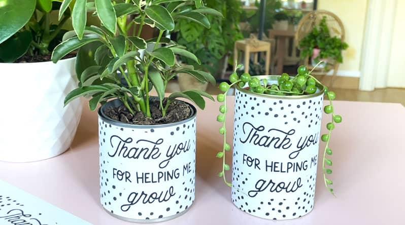 DIY Teacher Appreciation Gift Planter Printable